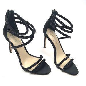 Jessica Simpson 10m Jamalee Glitter Sandal Heel